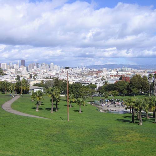 Landscape and concrete work in Mission Dolores Park